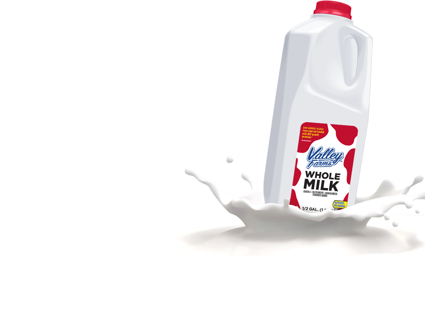 Valley Farms Vitamin D Milk Jug